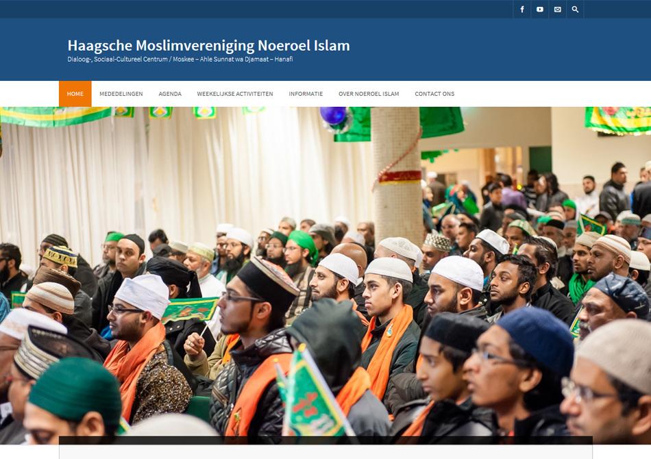 Webdesign voor moskee Noeroel Islam