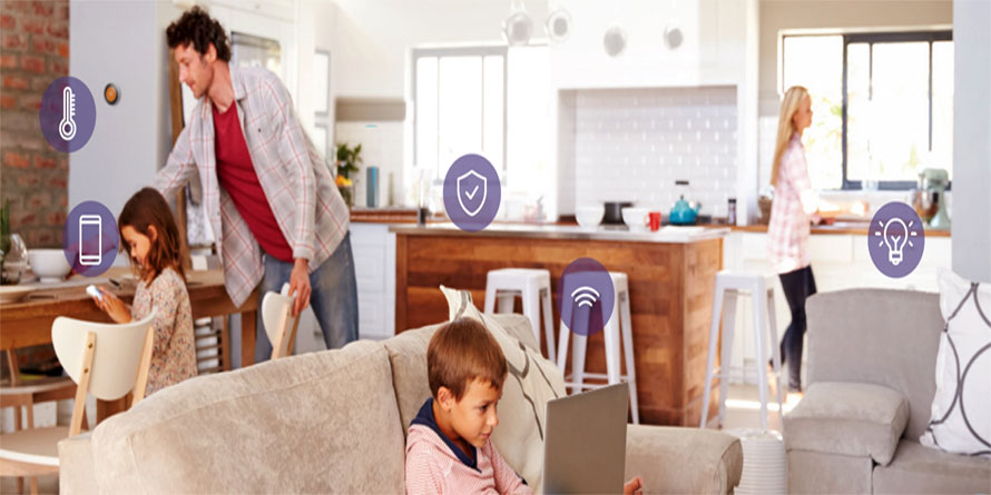 Bekabeld en draadloos WiFi netwerk voor thuis consumenten